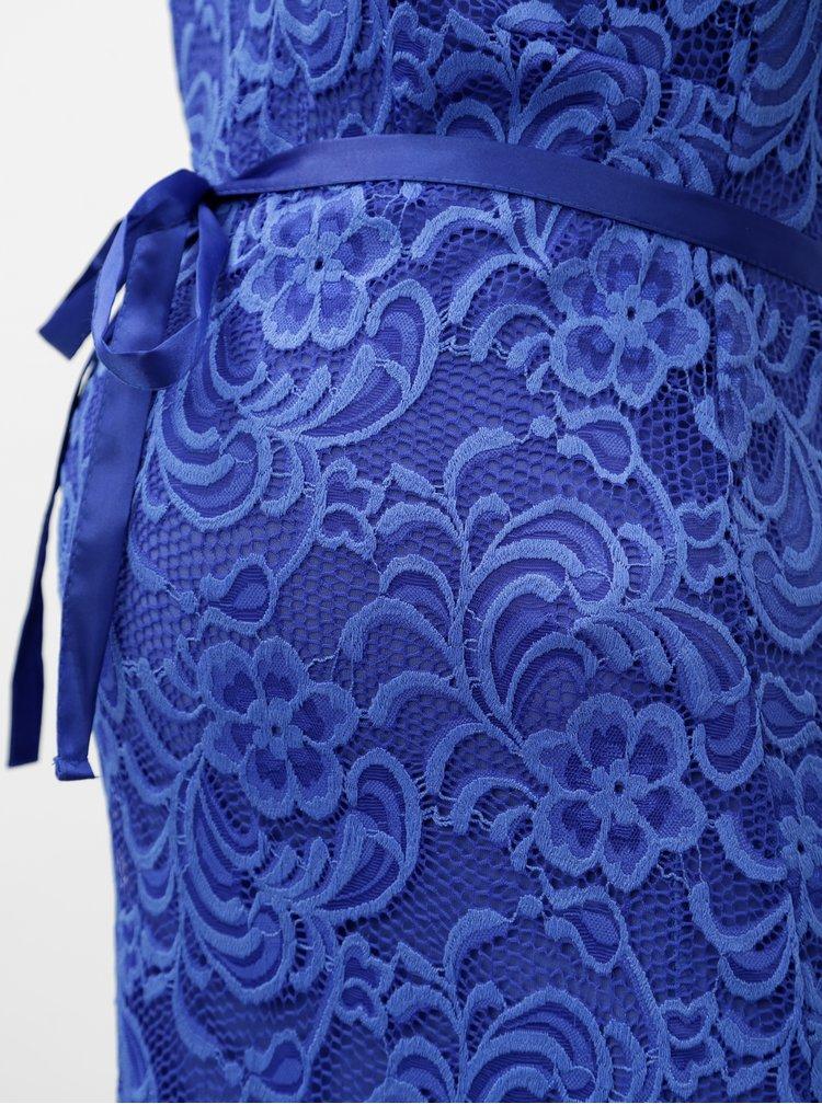 Modré krajkové těhotenské šaty Mama.licious New mivana