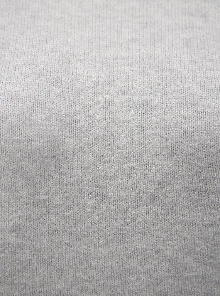 Světle šedý volný svetr VILA Ril
