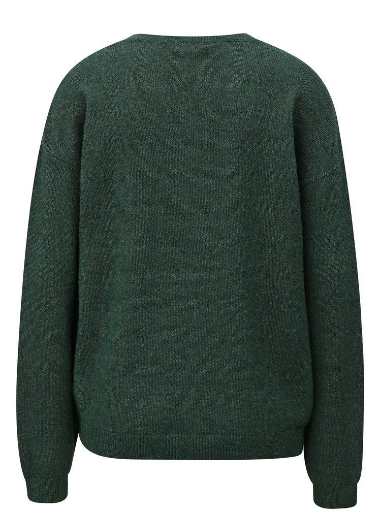 Tmavě zelený volný svetr VILA Ril