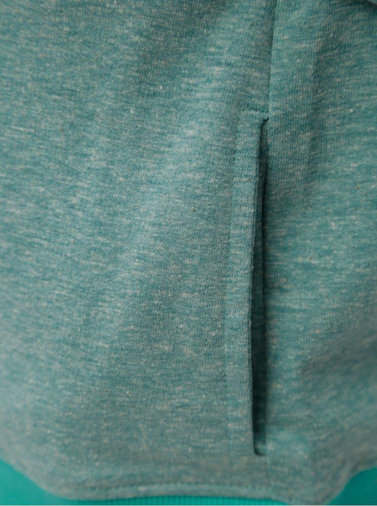 Zelená žíhaná klučičí mikina s kapucí 5.10.15.
