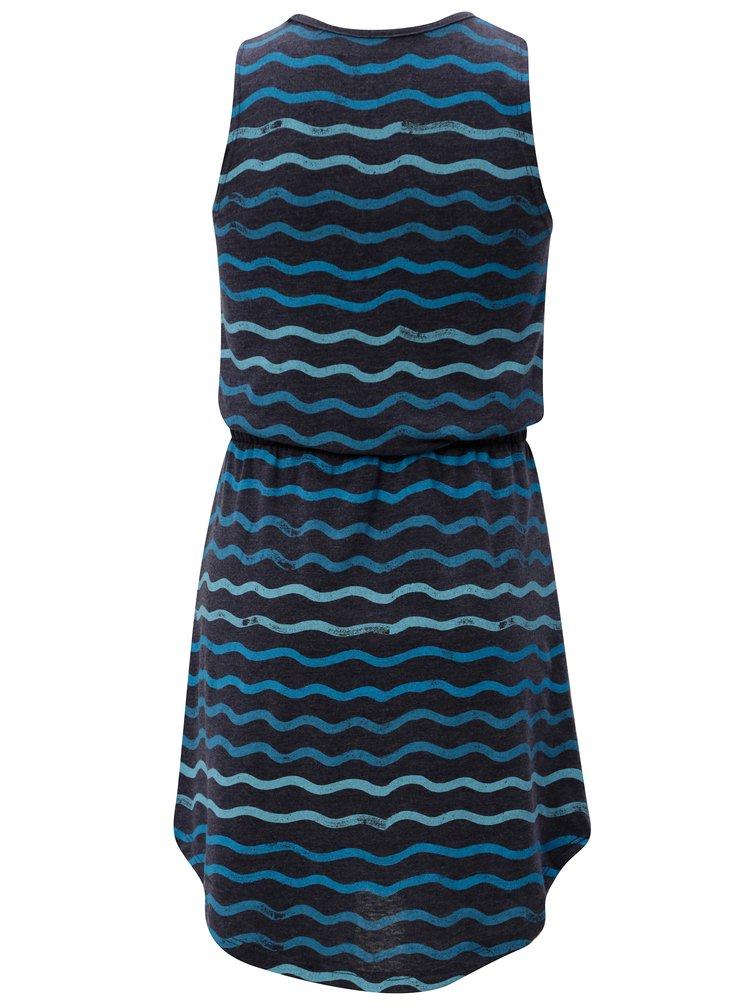 Modro-šedí holčičí vzorované šaty 5.10.15.