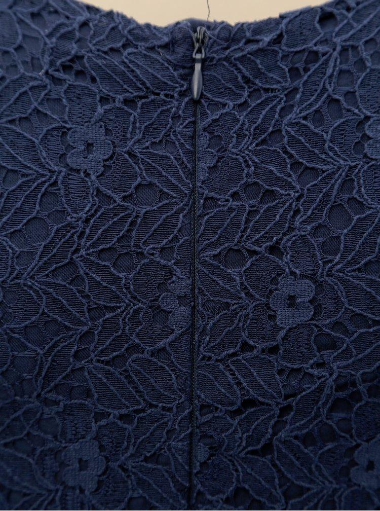 Modré krajkové šaty s páskem 5.10.15.