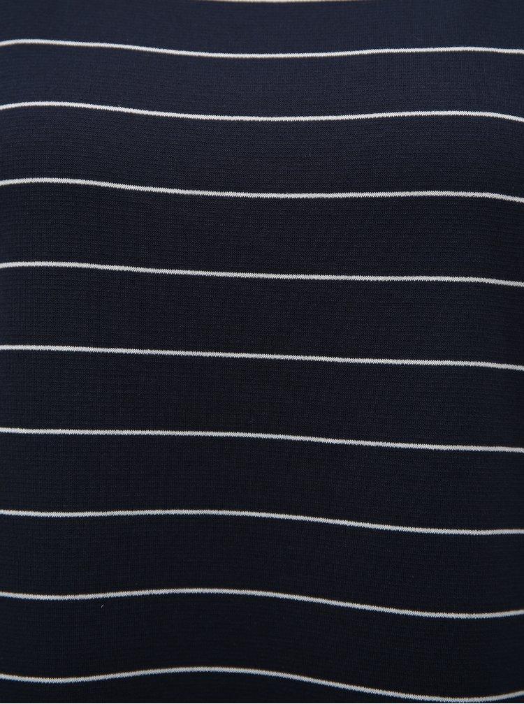 Tmavě modré pruhované tričko VILA Tinny