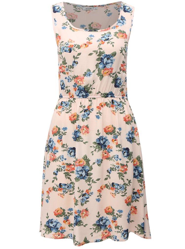 Světle růžové květované šaty na ramínka Haily´s Amalia