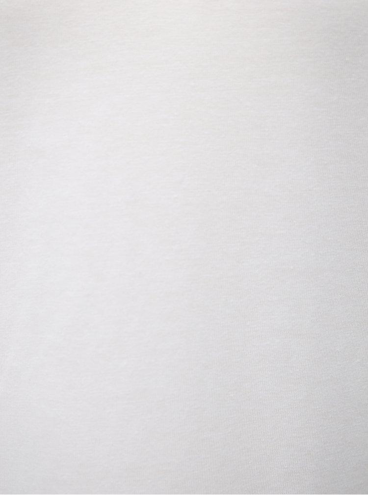 Bílé volné tričko VILA Dreamers