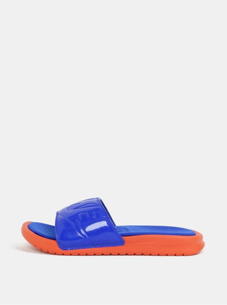 Papuci de dama oranj-albastru Nike Benassi