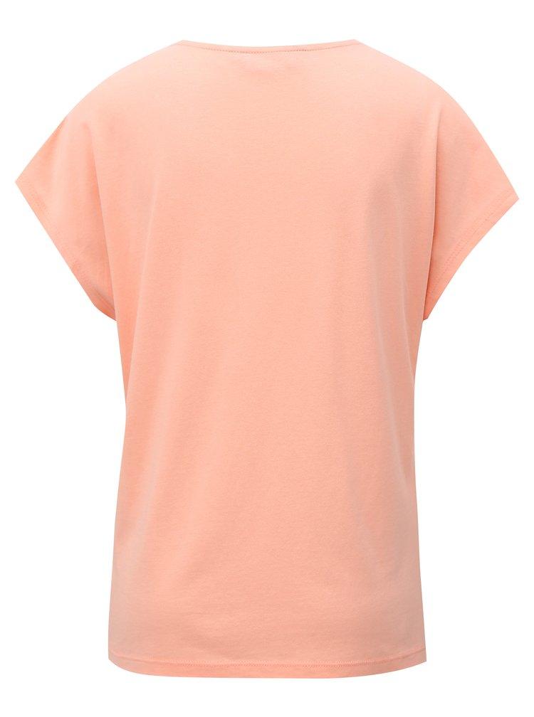 Meruňkové tričko s krajkou Dorothy Perkins