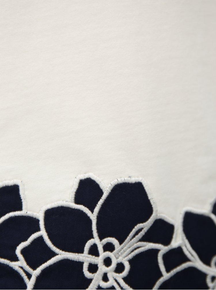 Modro-biele tielko s čipkou Dorothy Perkins