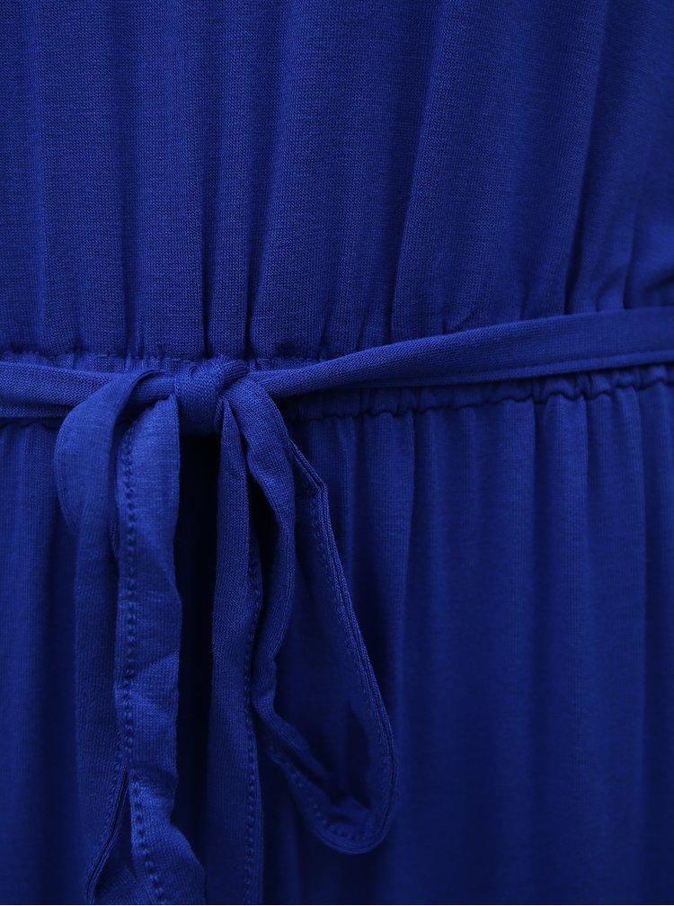 Modré maxišaty s krajkou Dorothy Perkins Tall