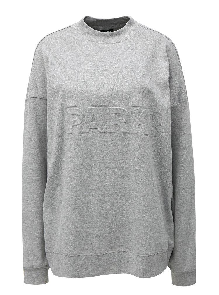 Sivá melírovaná oversize mikina Ivy Park