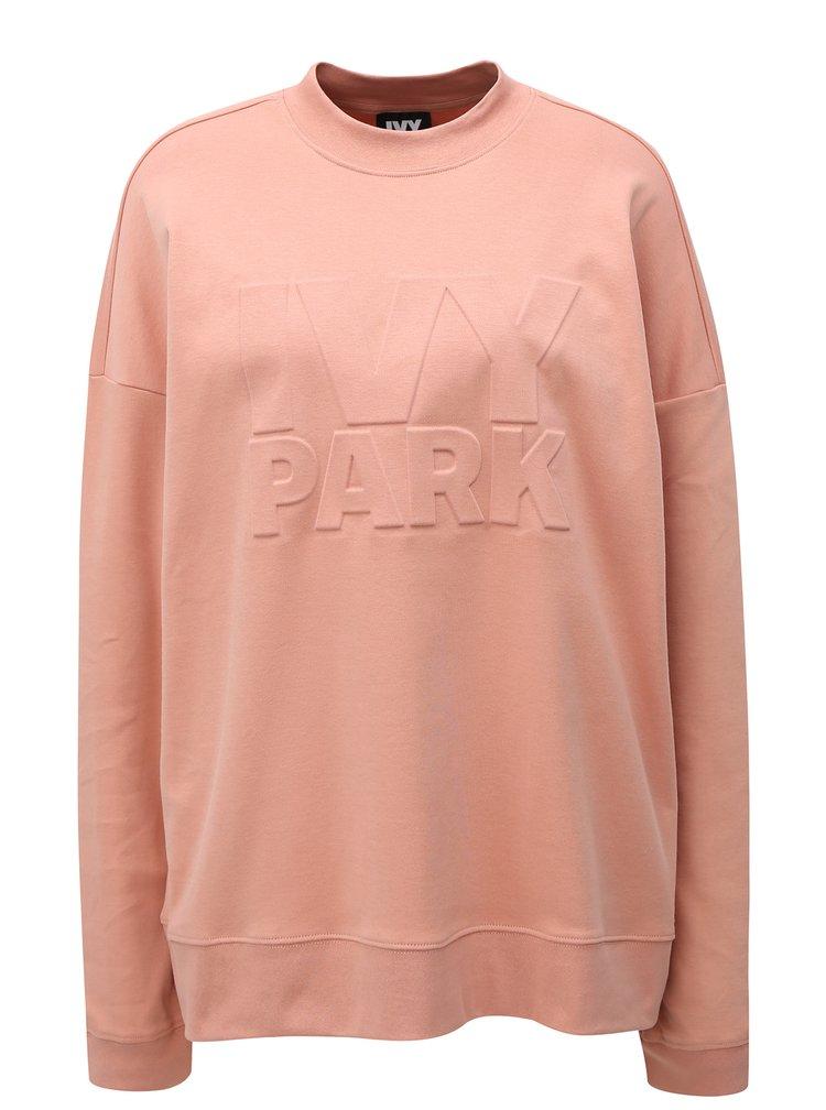 Světle růžová oversize mikina Ivy Park