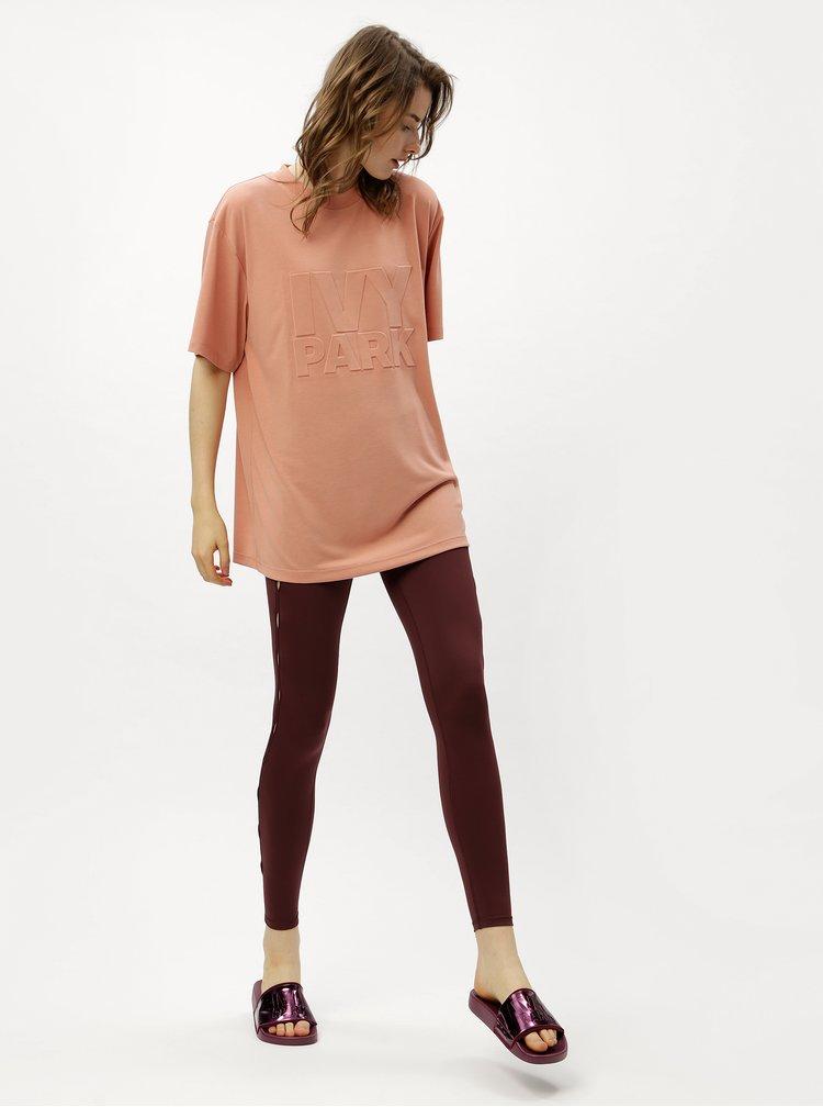 Světle růžové oversize tričko Ivy Park