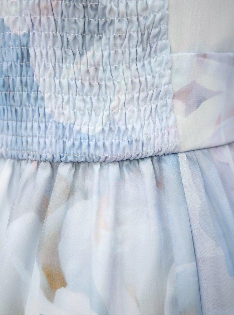 Modré maxišaty s plisovaným topem Dorothy Perkins