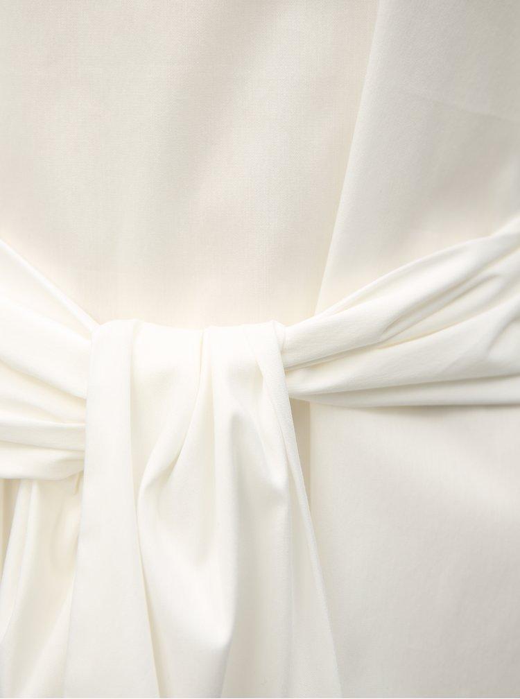 Bluza alba cu cordon in talie VILA Soffy