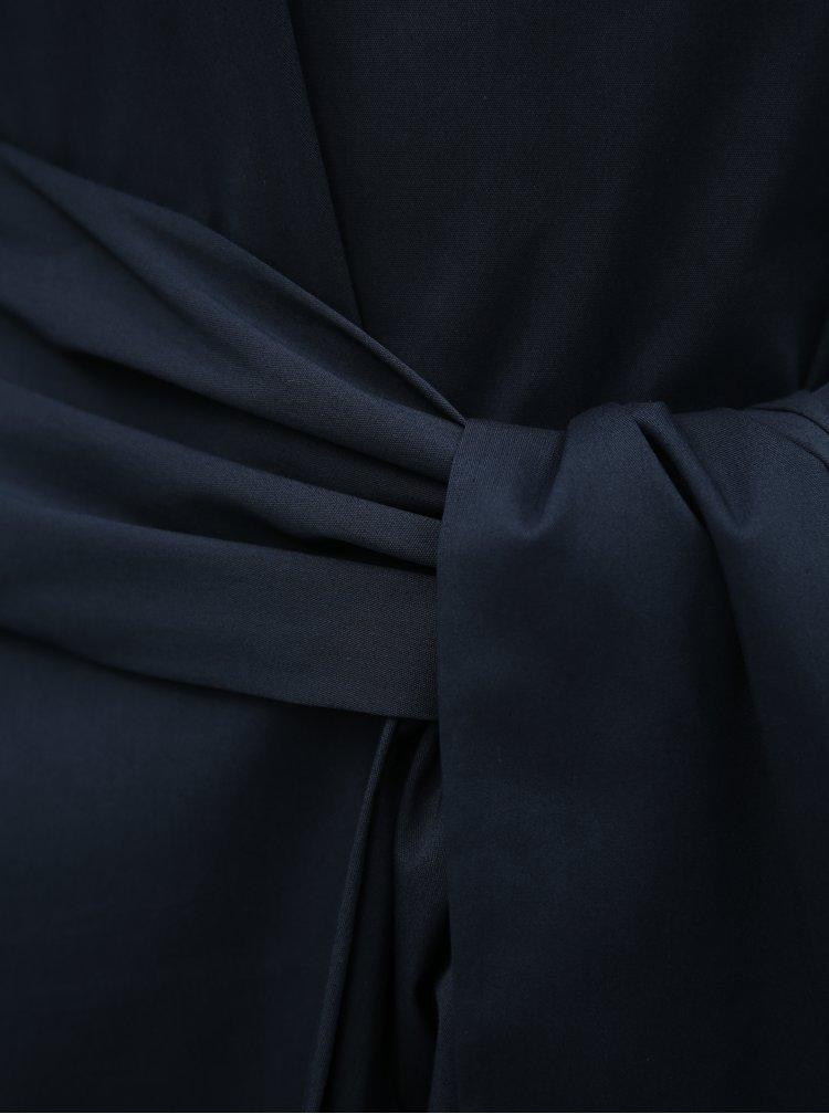 Tmavě modrá halenka se zavazováním VILA Soffy