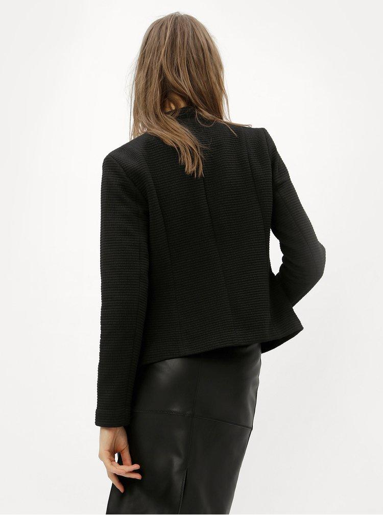Černé žebrované sako ONLY Kamma