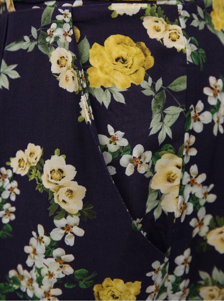 Tmavomodrý kvetovaný overal s opaskom Dorothy Perkins Tall
