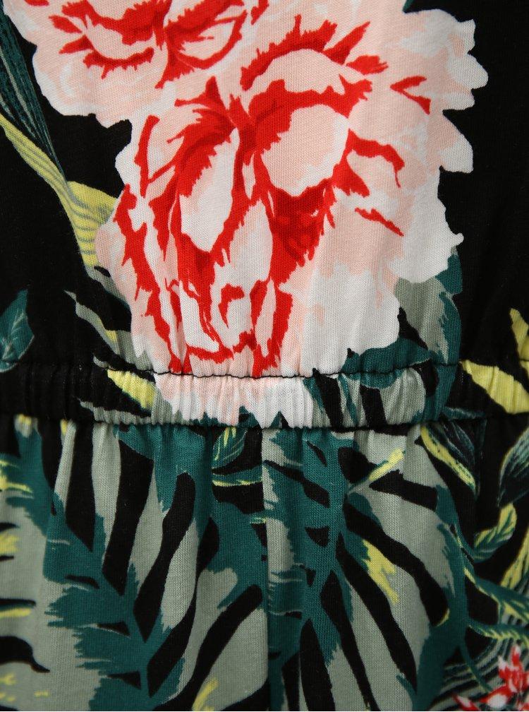 Černý květovaný overal Dorothy Perkins
