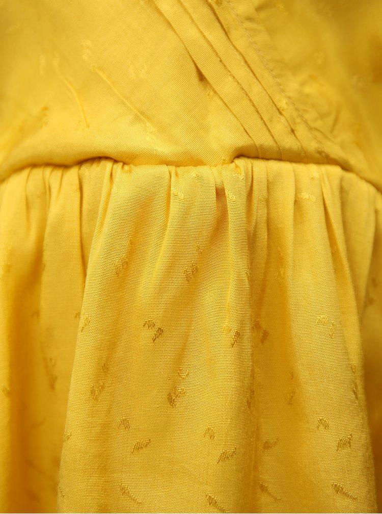 Žluté tílko s volány VILA Antonia