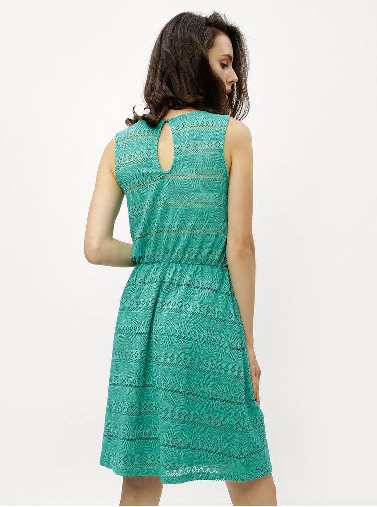 Zelené krajkové šaty s průstřihem na zádech ONLY
