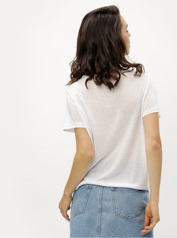 Bílé tričko se střapci ONLY