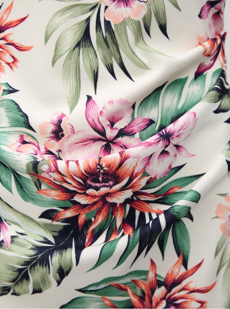 Bílé pouzdrové šaty s květovaným vzorem Dorothy Perkins
