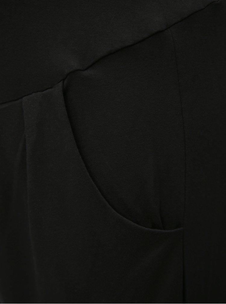 Černé těhotenské volné tepláky Dorothy Perkins Maternity