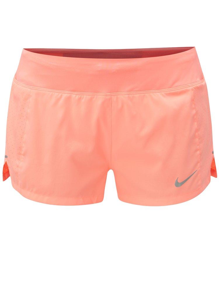 Neonově oranžové dámské funkční kraťasy Nike Eclipse