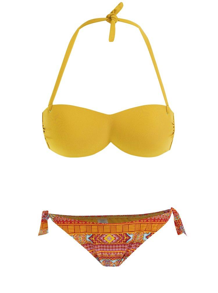 Costum de baie din 2 piese oranj-galben cu model ZOOT