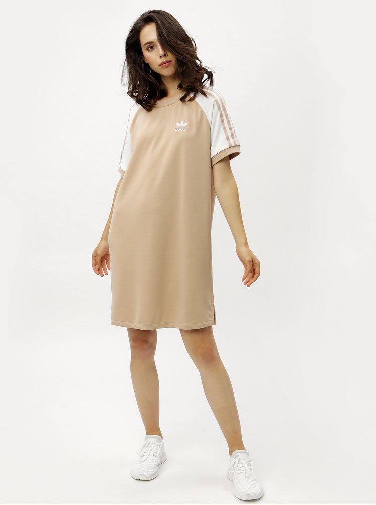 Béžové dámske šaty adidas Originals