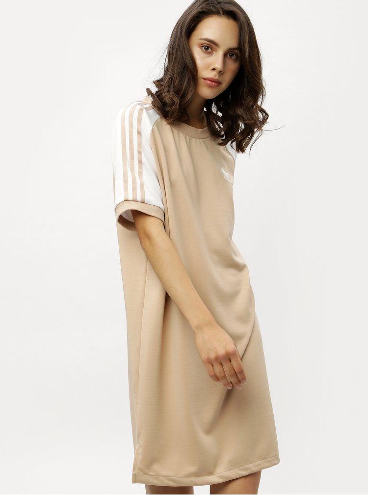Béžové dámské šaty adidas Originals