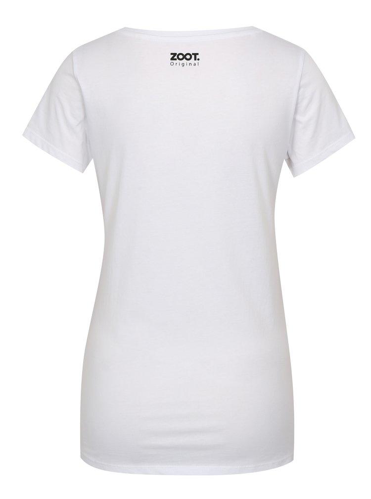 Bílé dámské tričko ZOOT Original Plamenak