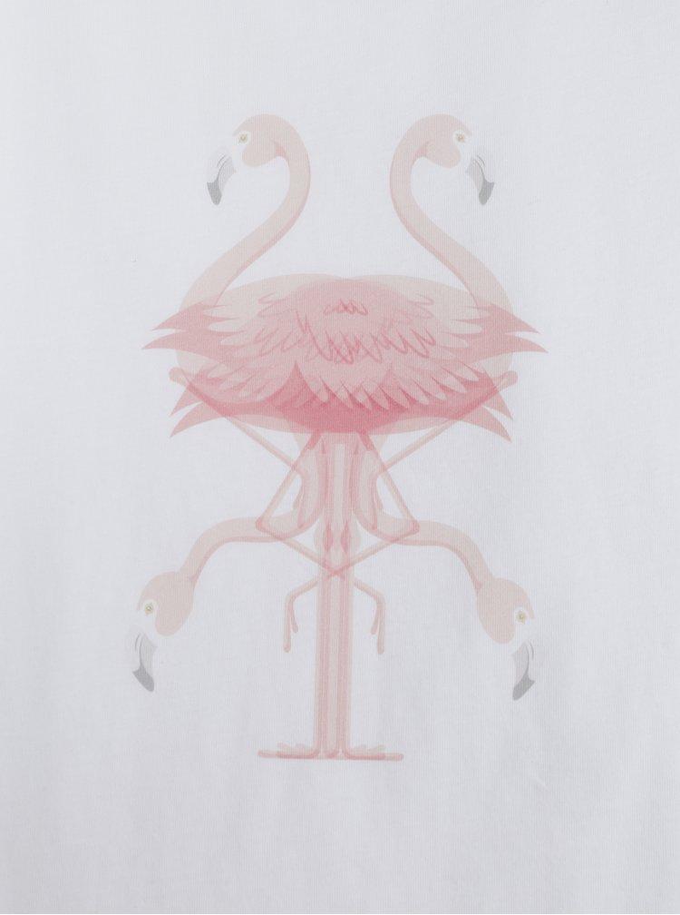 Bílé dámské volné tílko ZOOT Original Plamenak