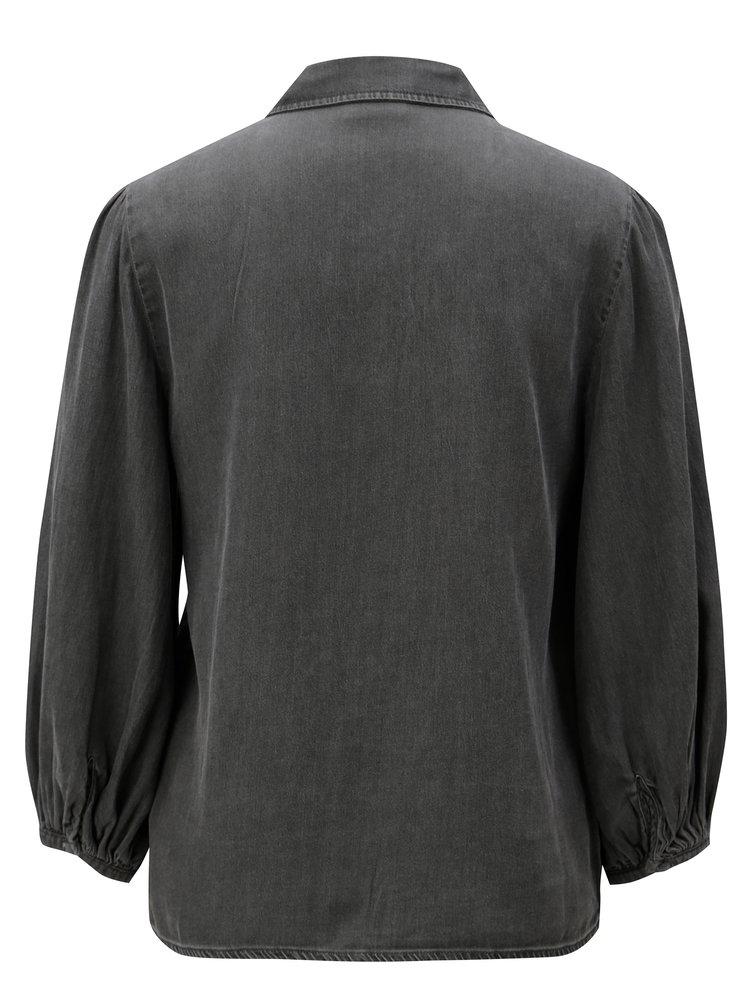 Šedá džínová košile VILA Bista