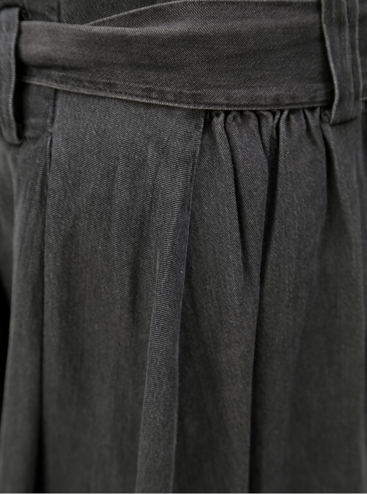 Šedá džínová sukně s páskem VILA Bista