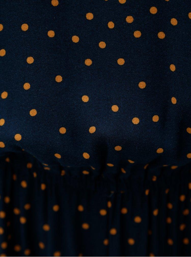Tmavě modrý puntíkovaný overal VILA Esto