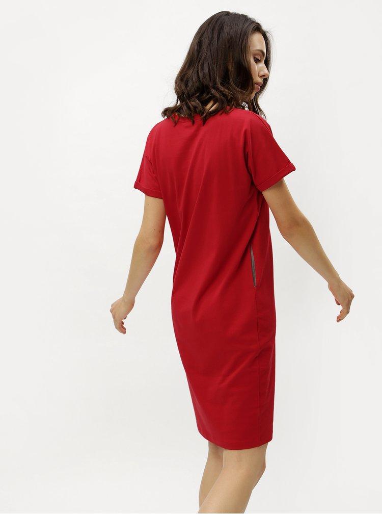 Červené pouzdrové šaty s kapsami ZOOT