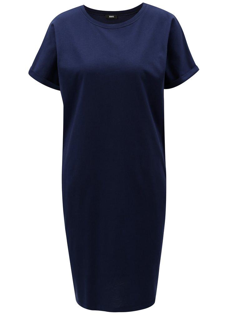 Tmavě modré pouzdrové šaty s kapsami ZOOT
