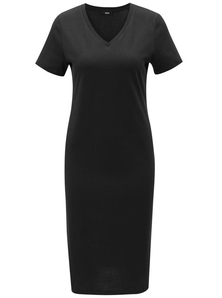 Černé pouzdrové šaty s krátkým rukávem ZOOT