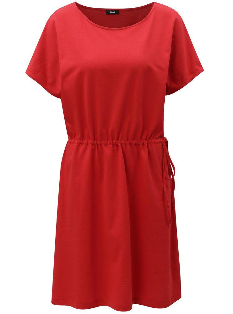 Červené oversize šaty se stahováním v pase ZOOT