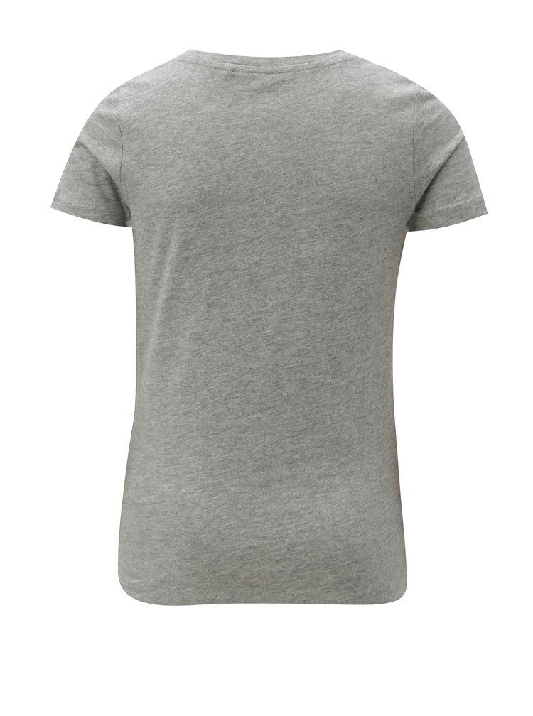 Šedé holčičí tričko LIMITED by name it Kamma
