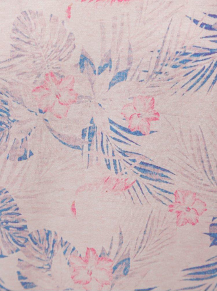 Světle růžové květované tričko s krátkým rukávem Burton Menswear London