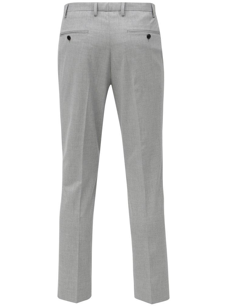 Světle šedé oblekové slim kalhoty Burton Menswear London