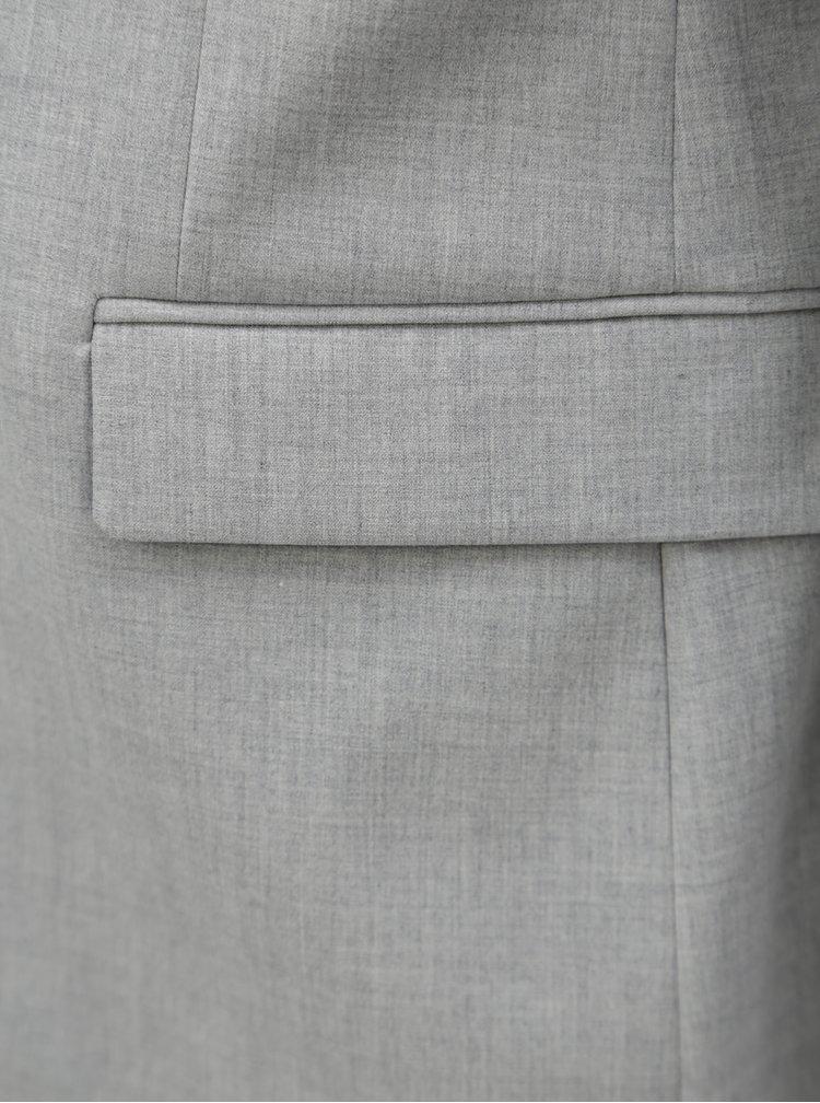 Světle šedé oblekové sako Burton Menswear London