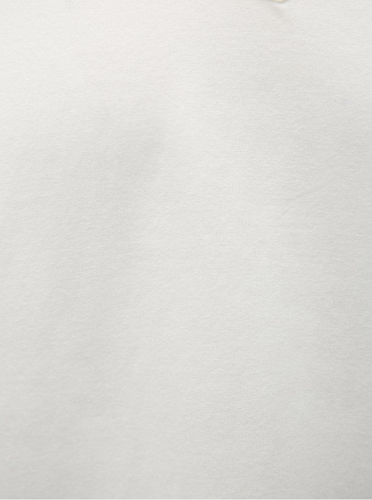 Sada dvou bílých slim fit triček pod košili Calvin Klein