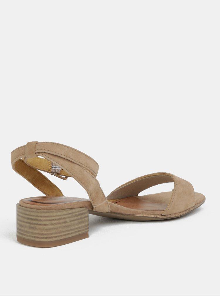 Béžové semišové sandálky Tamaris