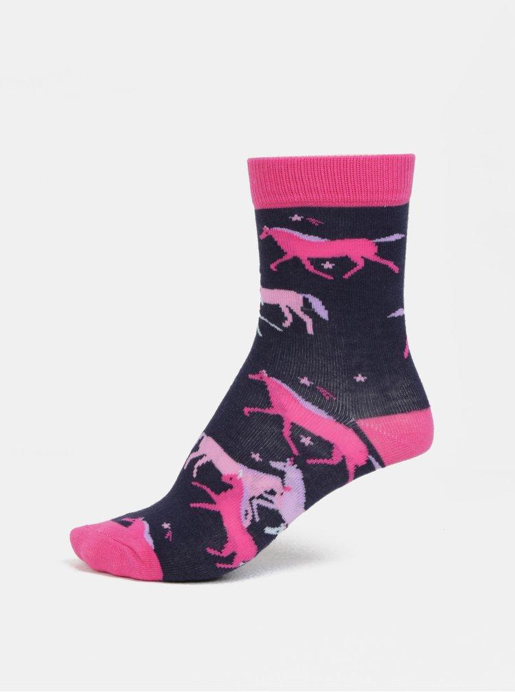 Sada tří párů holčičích ponožek v modré a růžové barvě Tom Joule Welly