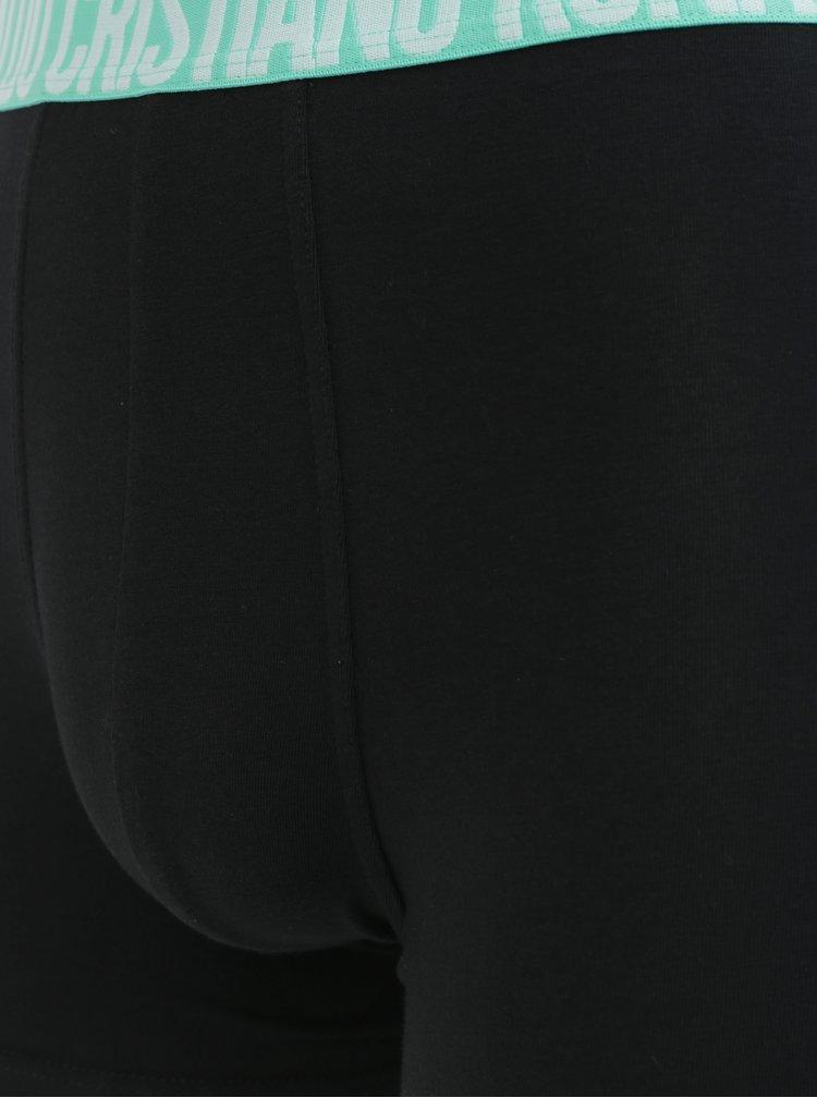 Sada tří boxerek v černé barvě CR7