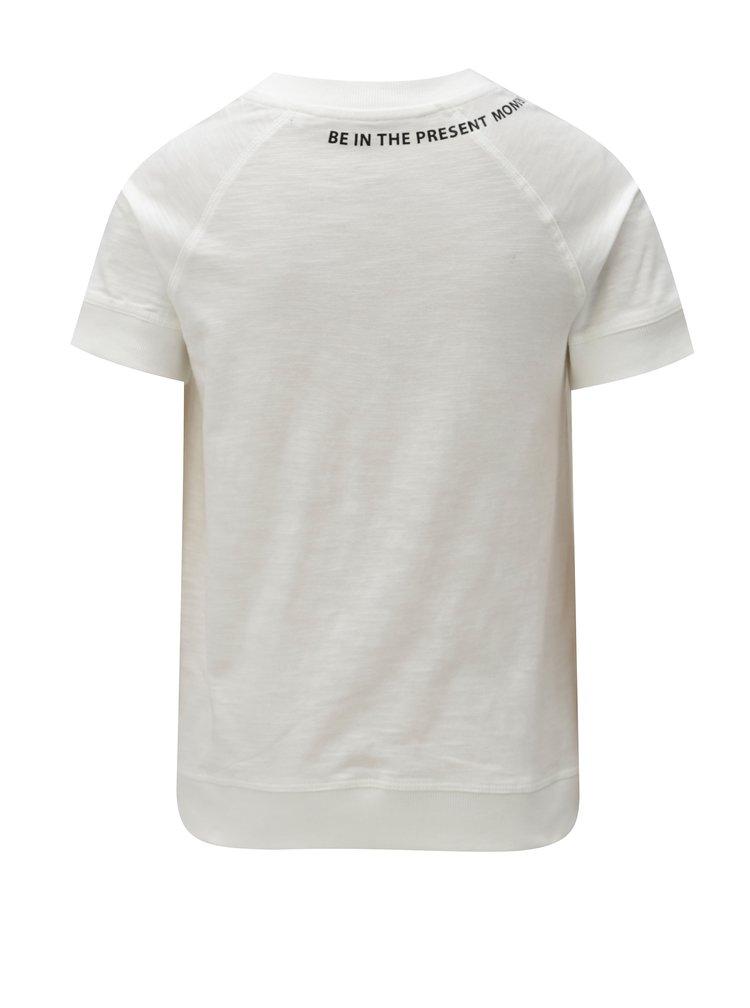 Krémové klučičí tričko s potiskem LIMITED by name it Ken