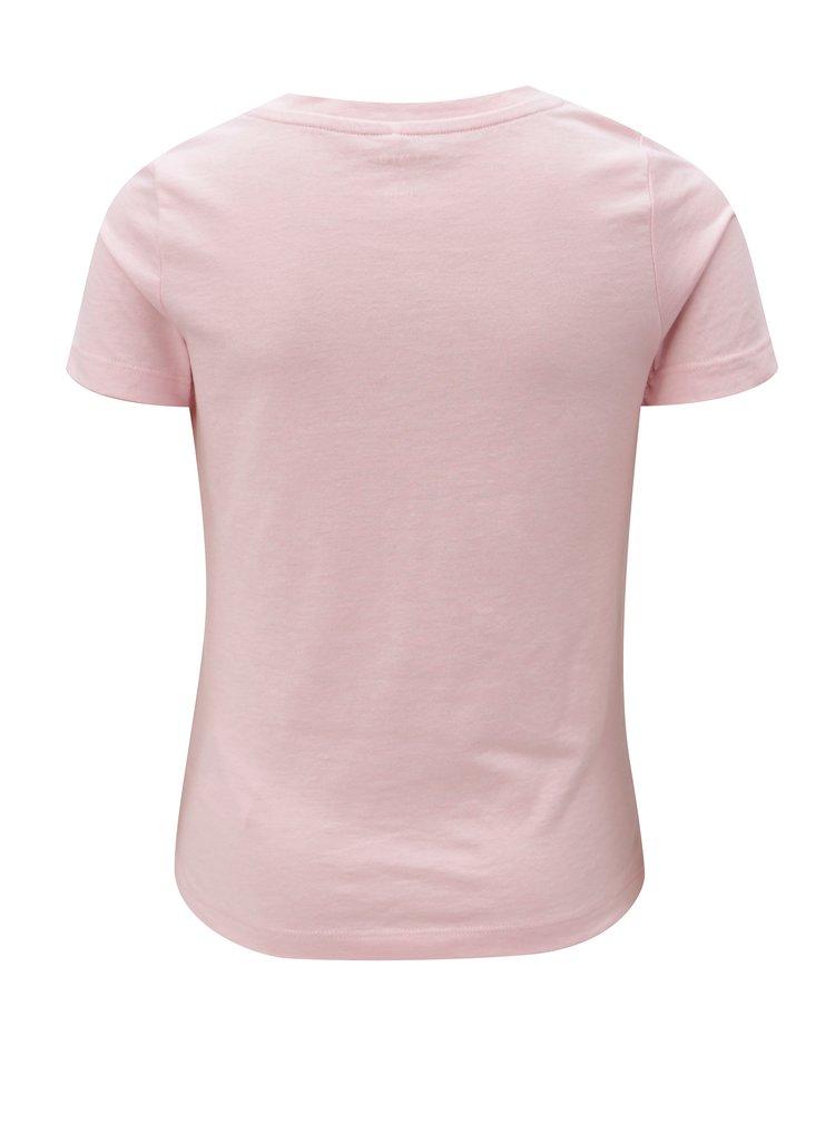 Růžové holčičí tričko s potiskem LIMITED by name it Veenkada